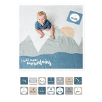 Lulujo Baby's First Year Blanket & Cards Set - I Will Move Mountains